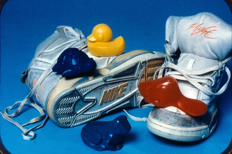A single cargo container in the mid-Pacific dropped 80,000 Nike sneakers in 1990 that washed ashore for the next decade.