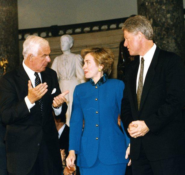 Tom Foley with Hillary and Bill Clinton in 1993.
