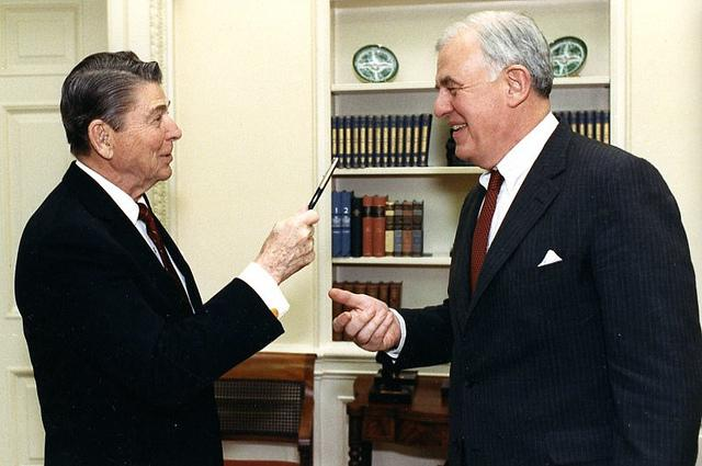 President Ronald Reagan with Tom Foley, who passed today at age 84.