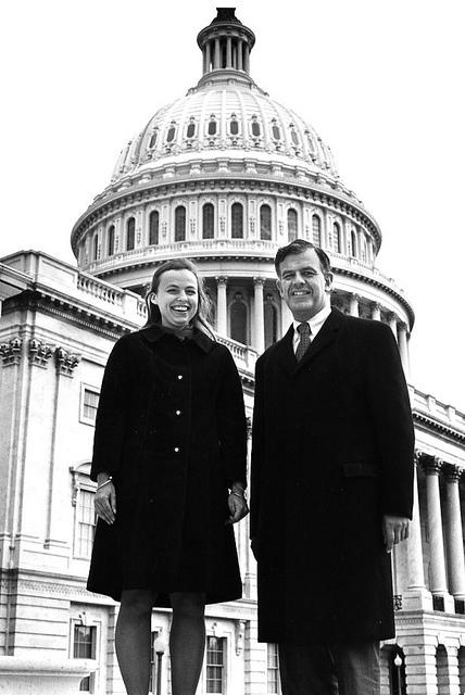 Tom Foley with his wife Heather on Capitol Hill in 1970.