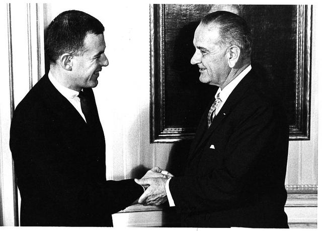 Tom Foley with President Lyndon Johnson in 1965.