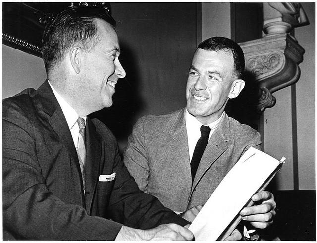 "Tom Foley with fellow Washington state Congressman Henry ""Scoop"" Jackson in 1964."
