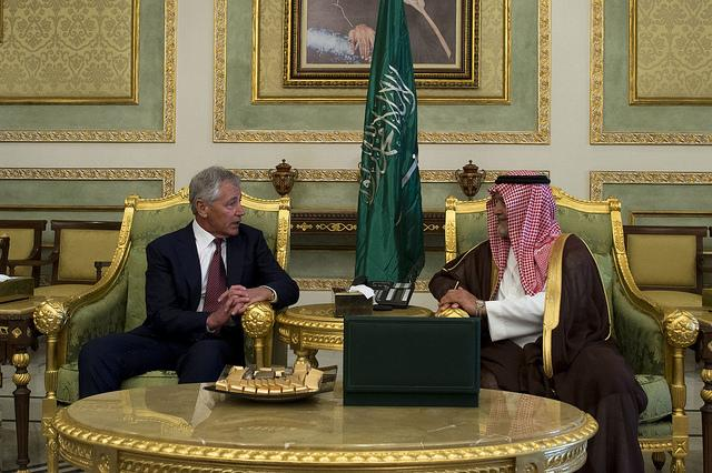 Secretary of Defense Chuck Hagel met with Prince Fahd bin Abdullah, Deputy Minister of Defense, this April in Saudi Arabia. Since then, the relationship between the US has been in flux, particularly in regards to Syria.