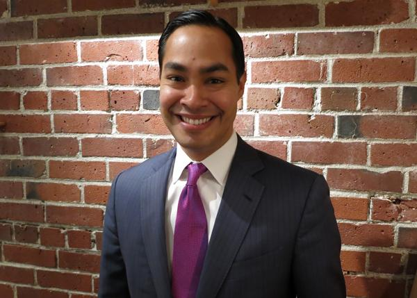 Julian Castro in the KUOW studios.