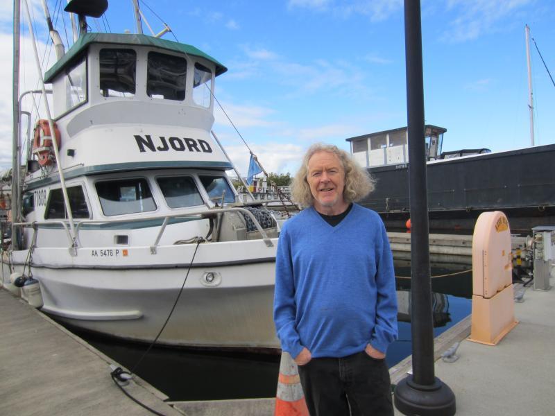 Fisherman Pete Knutson at Seattle's Fisherman's Terminal