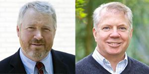 Mayoral candidates Mike McGinn, left, and Ed Murray, right.