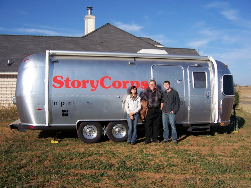 StoryCorps' mobile booth stops in Kansas.