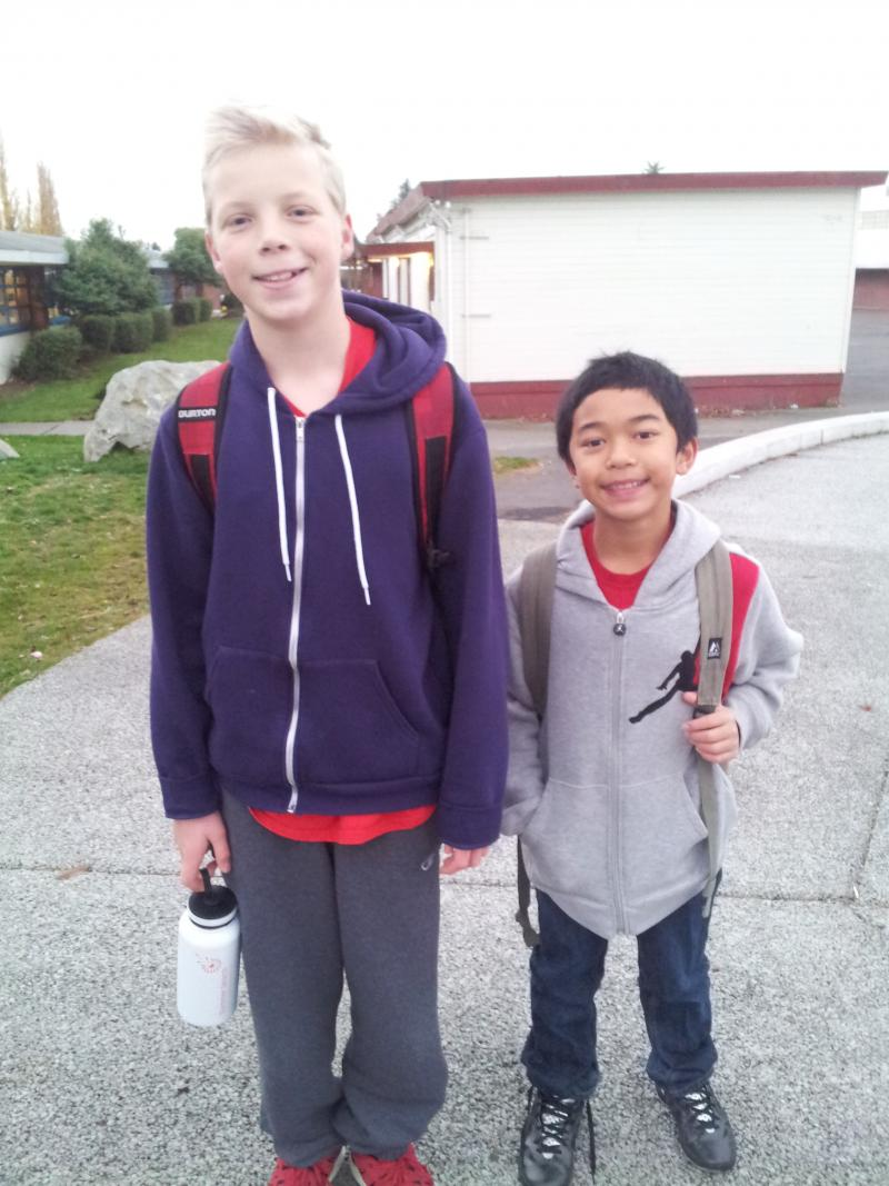Arlo Jackson and Nico Binuya say it's important to them to be able to walk from their Beacon Hill homes to Mercer Middle School.