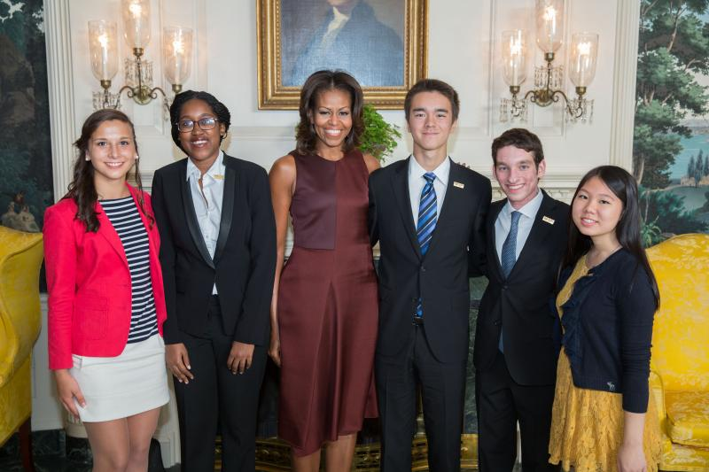 Michelle Obama and 2013 National Student Poets