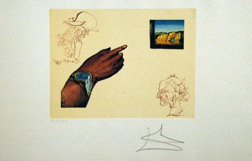"Salvador Dali's etching, ""Reflection"" from ""The Cycles of Life Suite,"" likely created in the late 1960s, fetched more than $20,000 at auction."