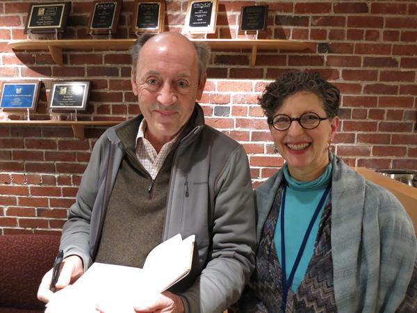 Poet Billy Collins with KUOW's Marcie Sillman.