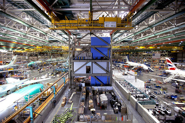 Inside Everett's Boeing factory.