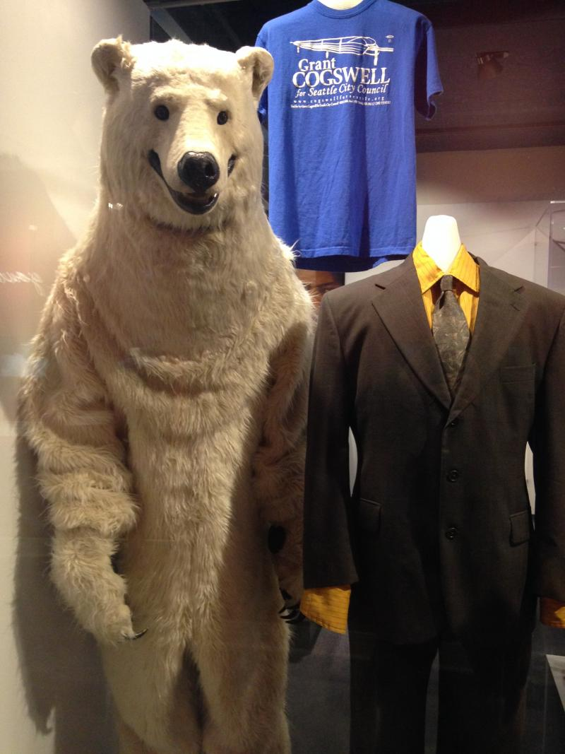 "The polar bear costume for the film ""Grassroots,"" a fictionalized account of an actual Seattle City Council race."