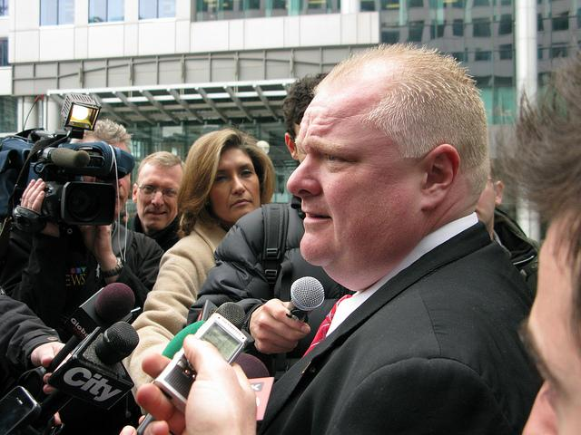 Toronto mayor Rob Ford, who is dealing with a recent crack scandal.