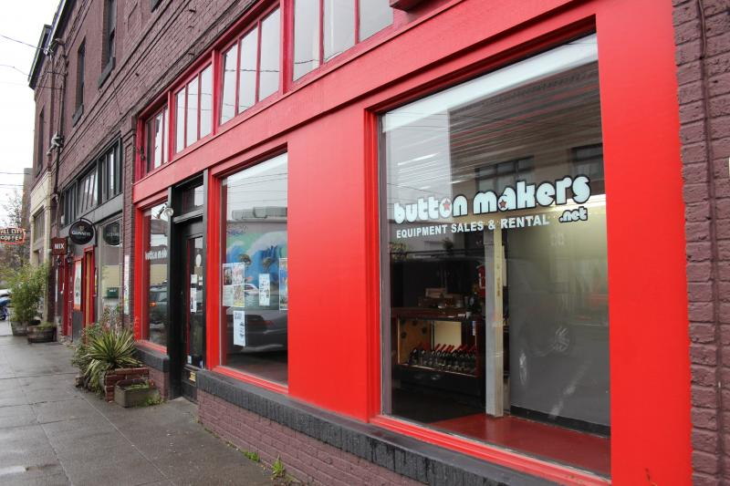 Buttonmakers on 12th Avenue in Georgetown was KUOW headquarters during the live broadcast on December 13, 2013.