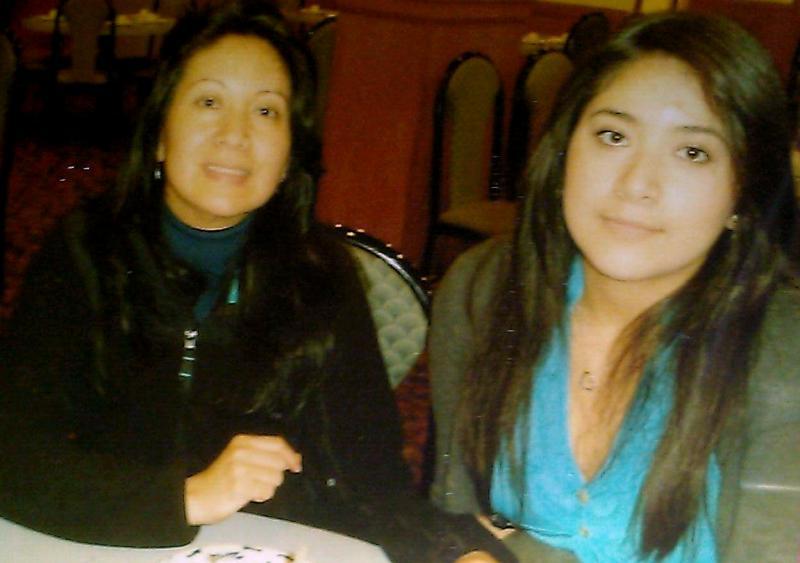 Maria Perez and her daughter Estefania Perez.