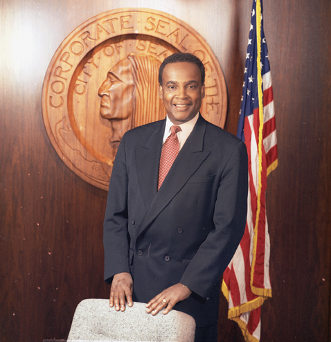 Norm Rice's official photograph as Seattle mayor, 1993.