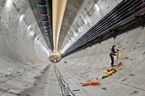 An inside view of Bertha, the multi-million dollar tunneling machine.
