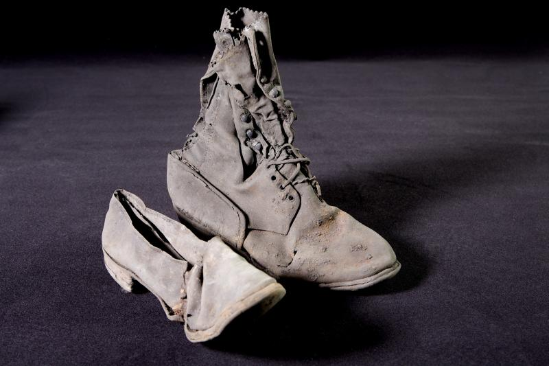 Women and men's shoes were found at the site where Bertha has been digging.