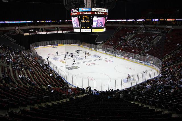 The possibility of a new SODO arena opens up the idea of bringing the NHL to Seattle. Here, the Seattle Thunderbirds play at Key Arena.