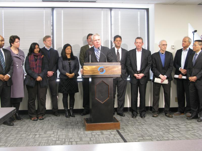 "Mayor-elect Ed Murray presents his ""income inequality"" task force."