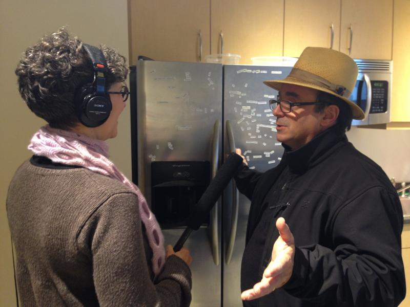 Marcie Sillman implores Chef in the Hat Thierry Rautureau to make magic out of KUOW leftovers.