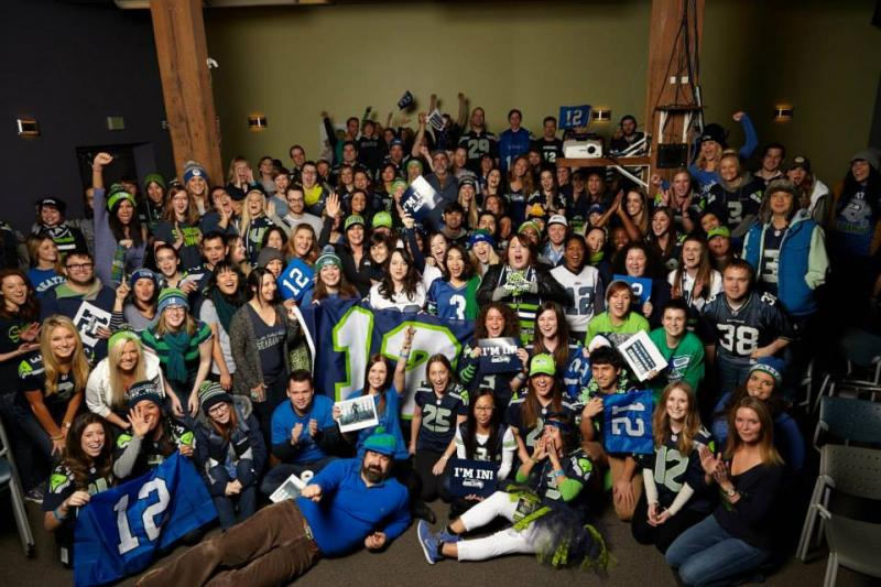 Staff at Seattle's Zulily shows off its team spirit.