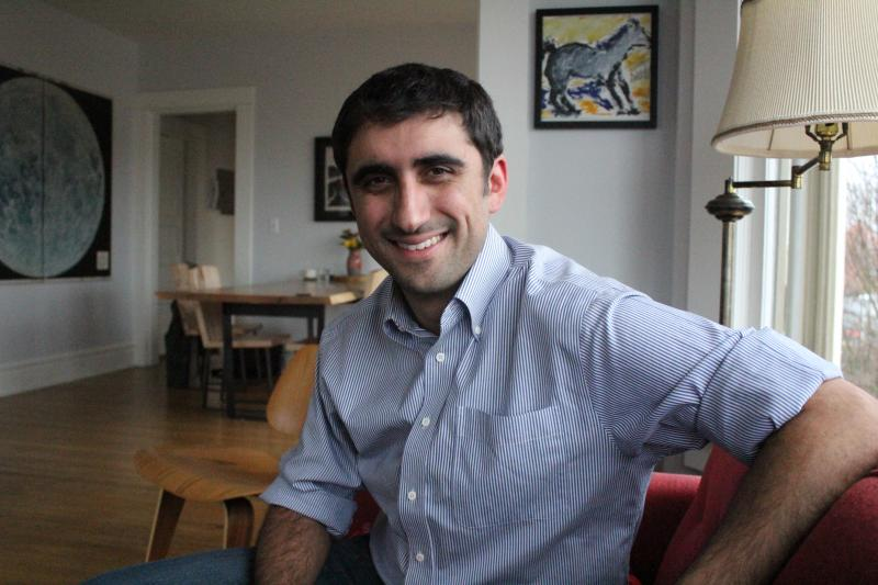 Brady Walkinshaw, newly appointed representative from Washington's 43rd Legislative District, at his home on Seattle's Capitol Hill