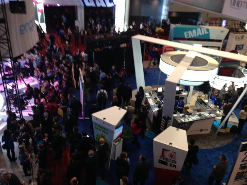 A view of the 2014 Consumer Electronics Show.