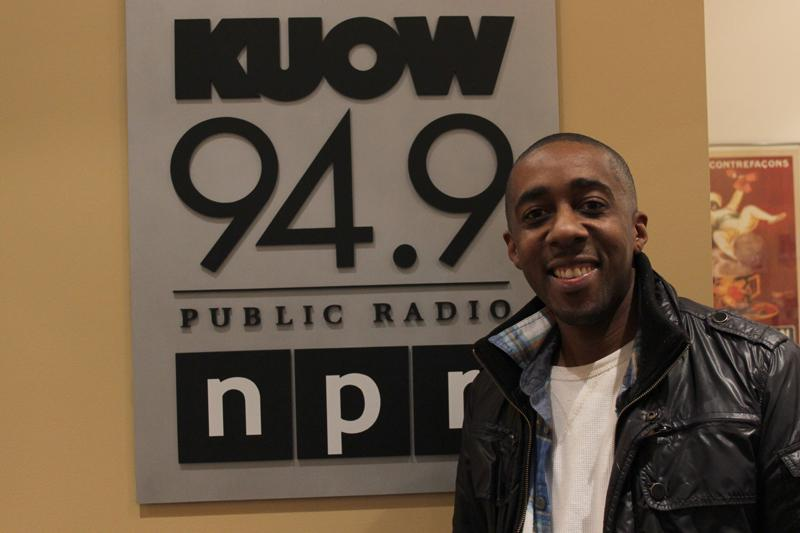 Dumi Maraire in the KUOW studios.