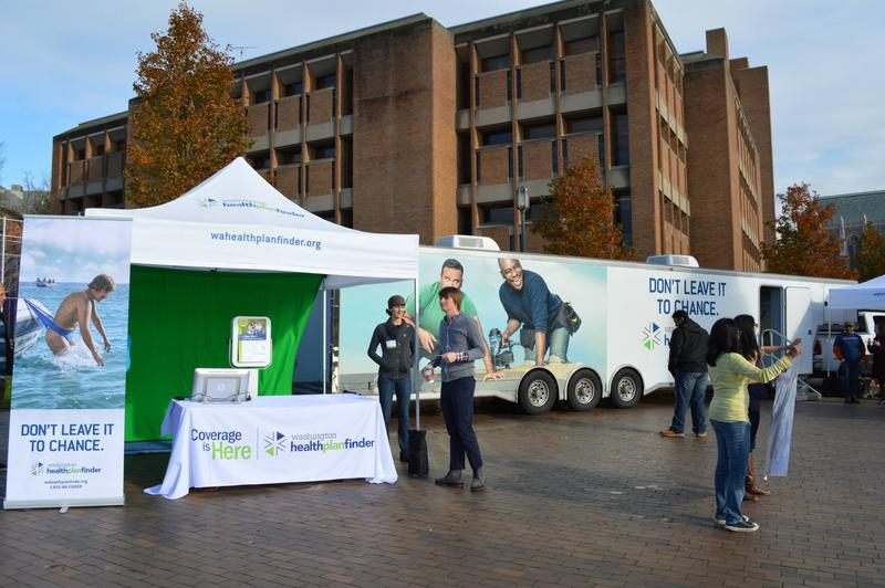 Washington's health exchange has hosted outreach events throughout the open enrollment season, which is drawing quickly to a close.