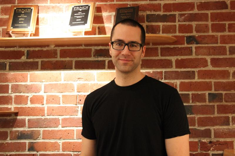Joshua Klein in the KUOW studios.
