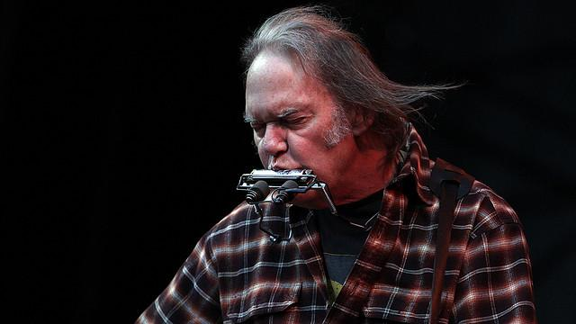 Musician and Canadian Neil Young.