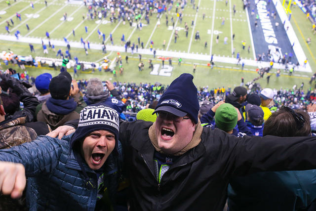 Seattle Seahawk fans at Century Link Field.