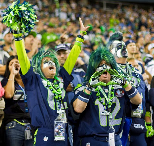 Die-hard Seahawks fans pack CenturyLink Field in Seattle.