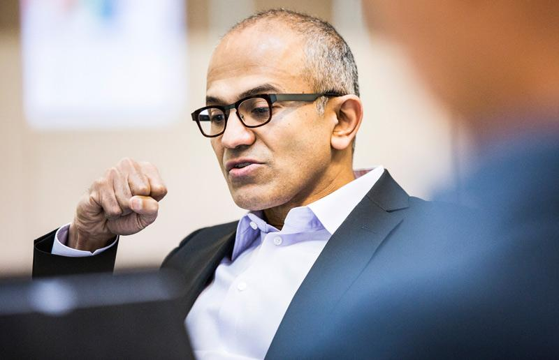 Satya Nadella is Microsoft's third chief executive.