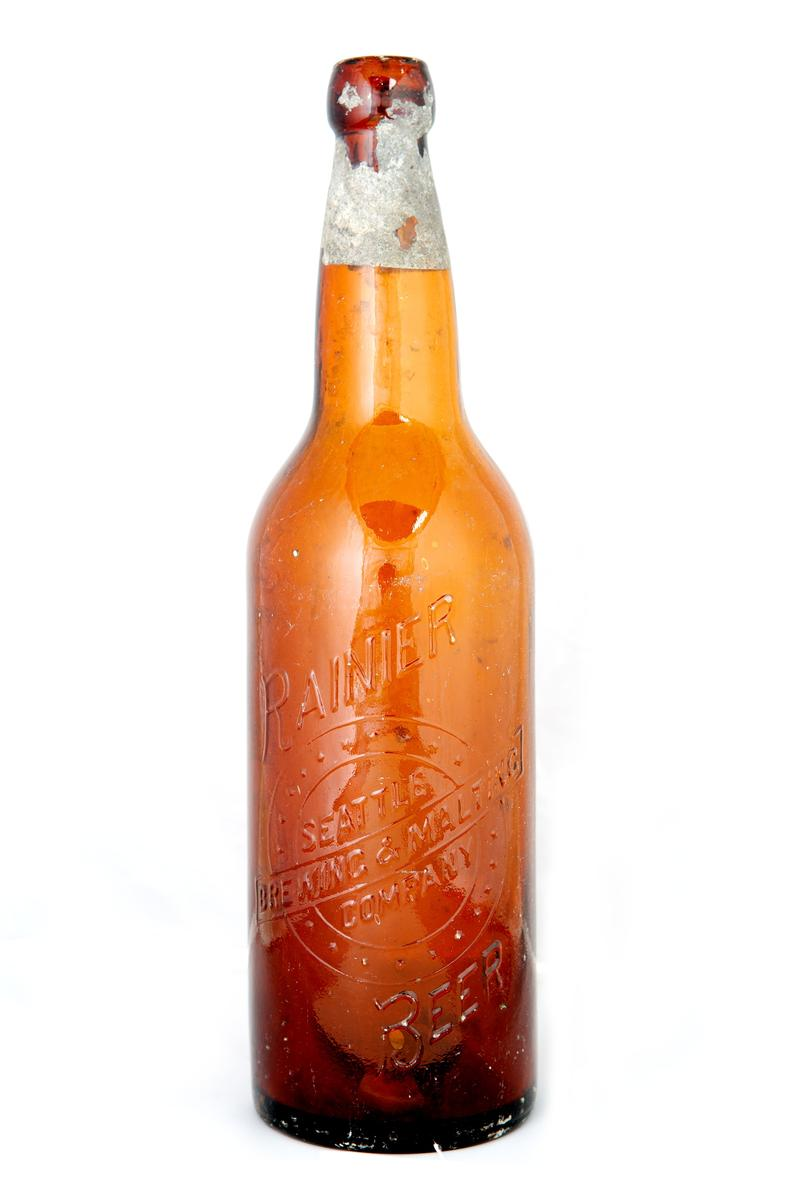 This Rainier bottle from the Seattle Brewing & Malting Co. was excavated during an archaeological survey in preparation for Bertha.