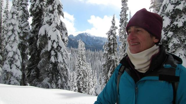 Interior Secretary Sally Jewell at Mount Rainier National Park.