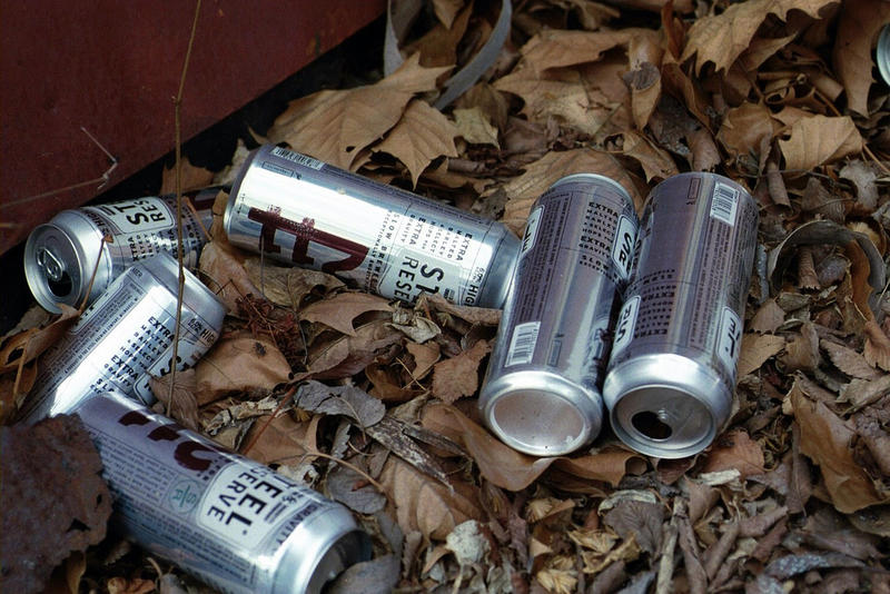 File photo: Discarded alcohol containers.