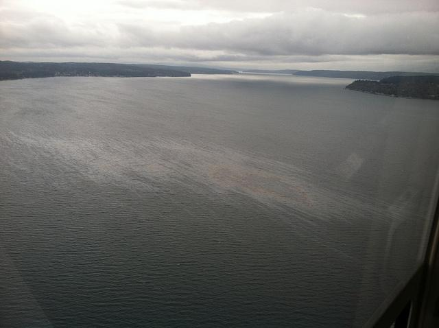 Monday's spill traveled 10 miles from Naval Base Kitsap-Bangor.