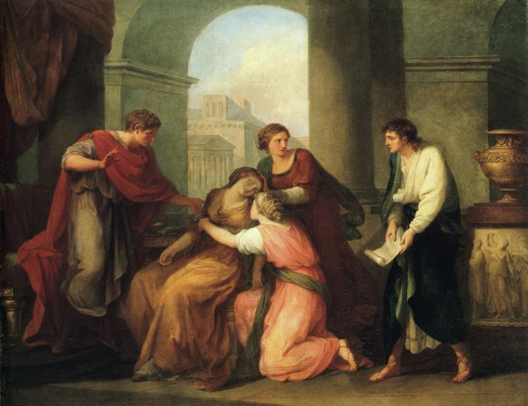 "Fan art: ""Virgil Reading the Aeneid to Augustus and Octavia,"" by Angelica Kauffman (1741-1807)."