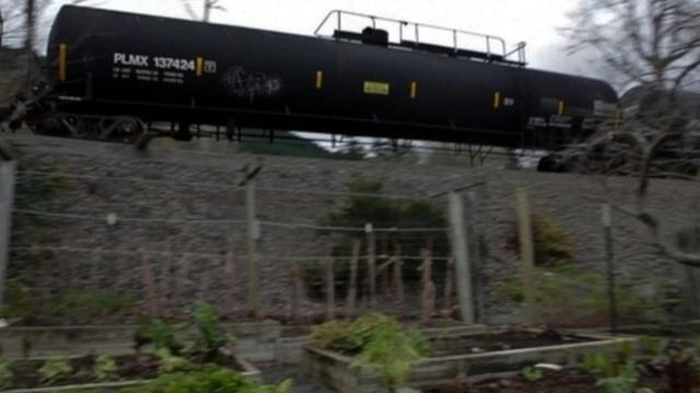 Unlike marine vessels, pipelines and terminal facilities, railroads are not required to file response plans for trains of tanker cars.