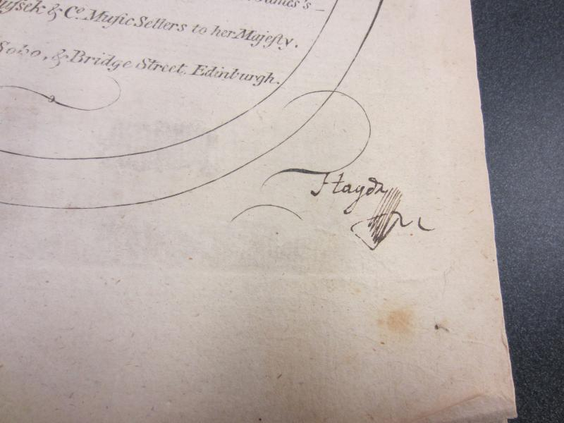 Franz Joseph Haydn's signature on a score from the William Crawford III Rare Music Collection, University of Washington.