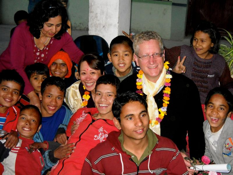 Photographer Robert Rose in Nepal.