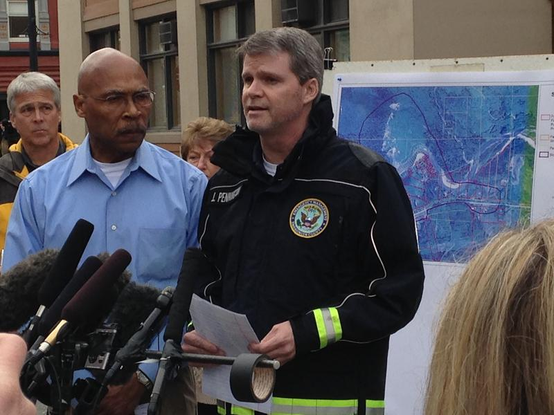 Snohomish County Emergency Management Director John Pennington at a press conference on March 24, 2014, in Arlington, Wash.