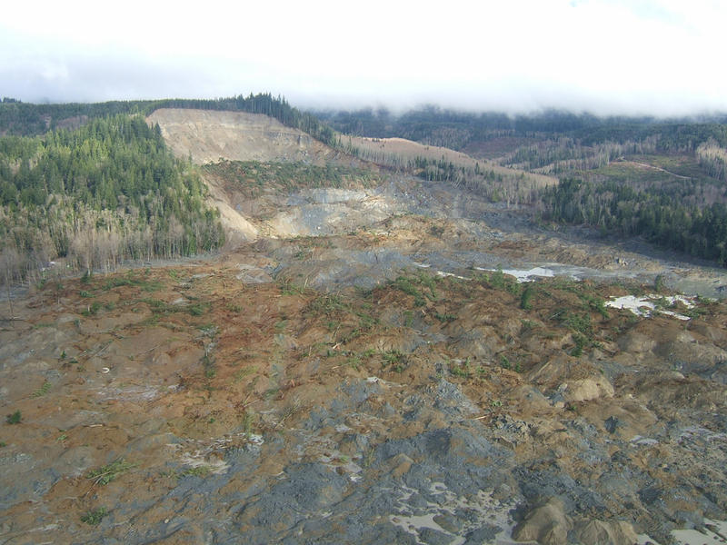 The site of the deadly Oso, Washington mudslide on March 22, 2014.