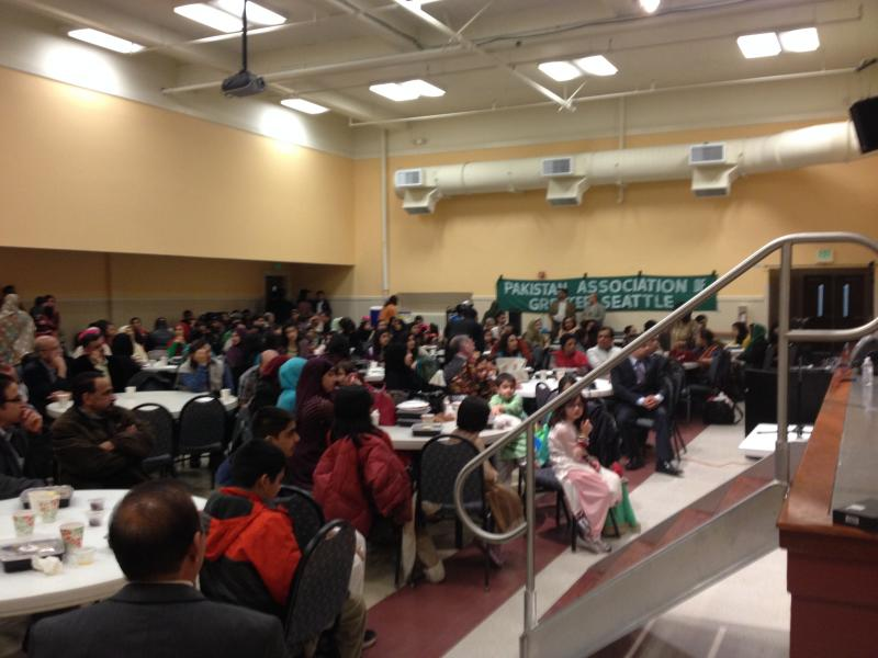 Local Pakistanis gather to celebrate Pakistan Day at the Old Redmond Schoolhouse on March 22.