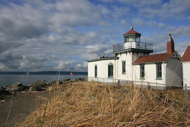 Lighthouse at Discovery Park in Seattle.