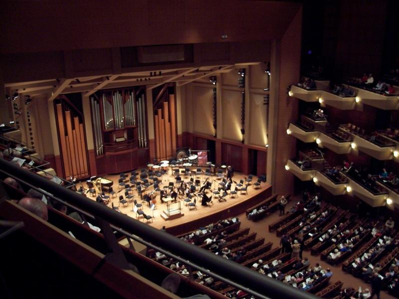 The Seattle Symphony performs at Benaroya Hall.