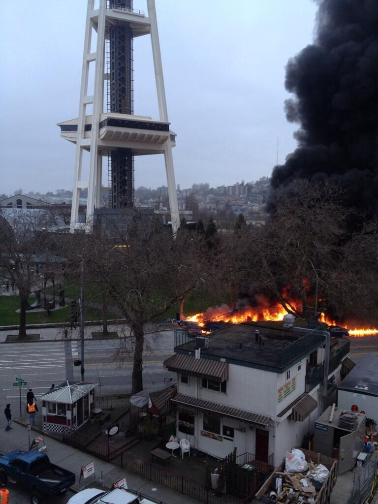 A news helicopter crashed at Seattle Center on Tuesday morning. Two people have been killed, and one man is in critical condition.